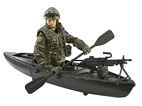 HM Armed Forces Royal Marines Commando with Canoe