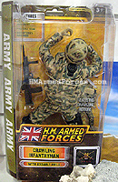 HM Armed Forces Army Crawling Infantryman
