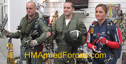 HMAF Action Figures and real serving RAF Winchman, Fast Jet Pilot & Falcon