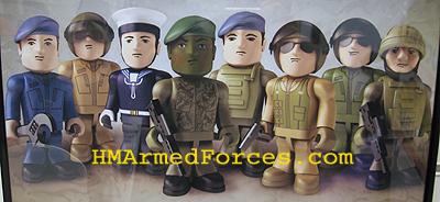 H.M Forces Armées Royal Navy rib /& commando mini set