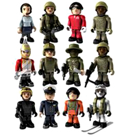 The 12 Standard Release HM Armed Forces Micro Figures Series 3
