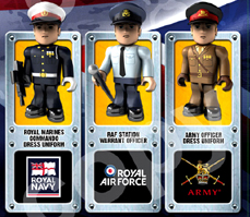 HM Armed Forces Micro Figures Series 3 Super Rare Figures