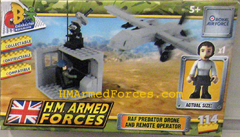 HM Armed Forces RAF Predator Drone and Remote Operator