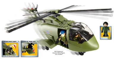 HM Armed Forces RAF Merlin Helicopter Set (includes Pilot Micro-Figure)